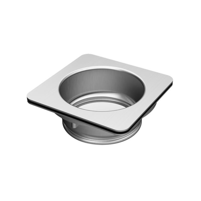 Adaptor for food waste disposers for sinks with square basket strainer waste