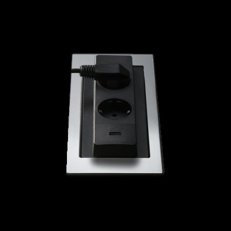 Rotating top power socket holder