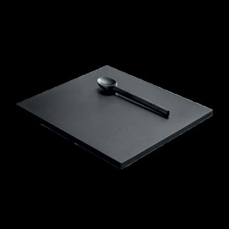 Sliding black HPL chopping board