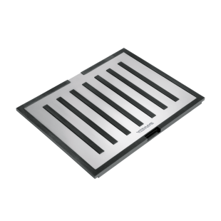 Multi-use stainless steel and black HPL B_Free chopping board