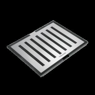 Tagliere multiuso B_Free in acciaio inox e HPL nero