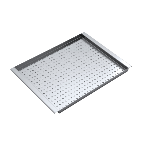 Rectangular stainless steel perforated bowl cover