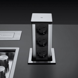 Square extractable power socket tower