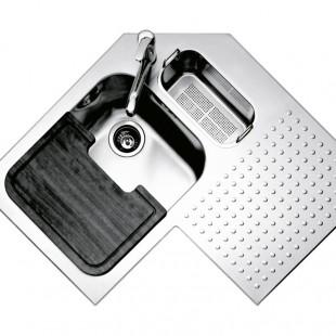 Shaped rectangular iroko chopping board